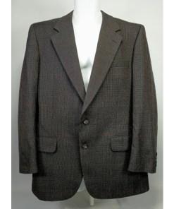 Burberry Men's Classic Brown Wool Sport Coat Blazer Jacket