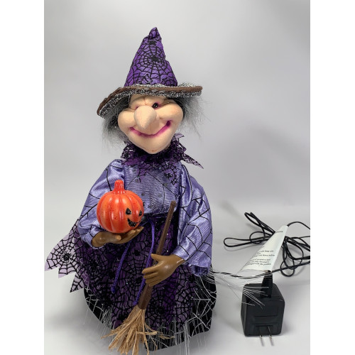 HALLOWEEN - FIBER OPTIC WITCH WITH JACK-O-LANTERN BY KIDS OF AMERICA