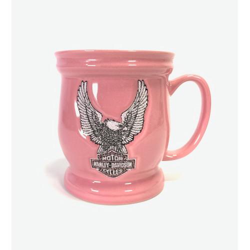 Pink Harley Davidson Eagle License Coffee Mug Encore Group Harley Davidson Official Pink Coffee Cup Mug Bar ShiHarley Davidsons Pink Glitter Textured Eagle