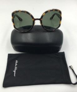 Salvatore Ferragamo Sunglasses Ladies Dark Tortoiseshell