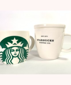 Starbucks Barista 12oz 2001 & Mermaid Logo Mug 14oz Cup 2017