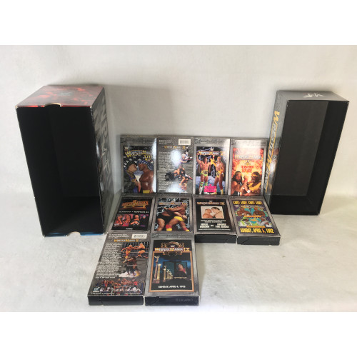 Vintage / Incomplete WWF - WrestleMania: The Legacy (VHS, 2000, 10-Tape Set)