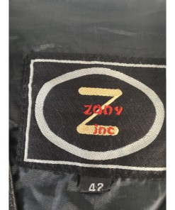 Mens Leather Motorcycle Vest with Patches US Flag, Veteran, POW SZ 42 (ZONY Inc)