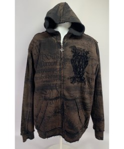 Affliction Rustic Brown Hoodie
