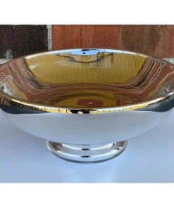 Blown Glass Reflector Footed Serving Bowl