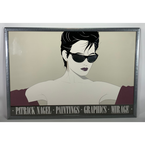 """Sunglasses (Black)"" Poster by Patrick Nagel for Mirage Editions"