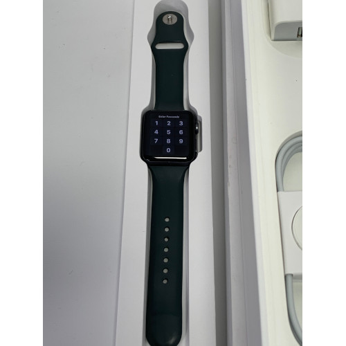 Apple Watch Series 2, 42mm Aluminum Case with Green Band MP062LL/a