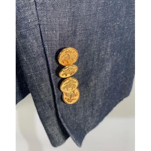Brooks Brothers Women's Blue Linen Blazer