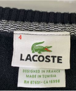 LACOSTE Cotton Jersey V-Neck Sweater 87651