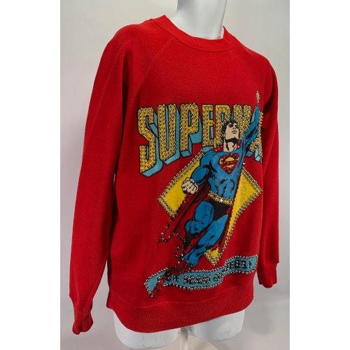 Superman DC Comics Custom Rhinestones Sweater