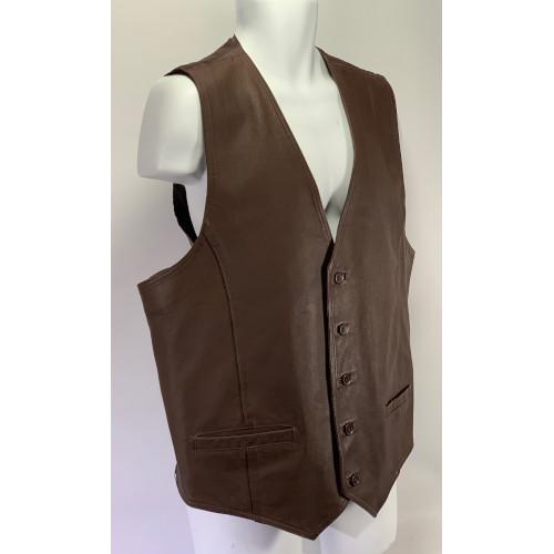 Wilson Genuine Brown Leather Vest / Jacket XLT