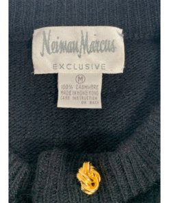 Neiman Marcus Exclusive Gold Button Cashmere