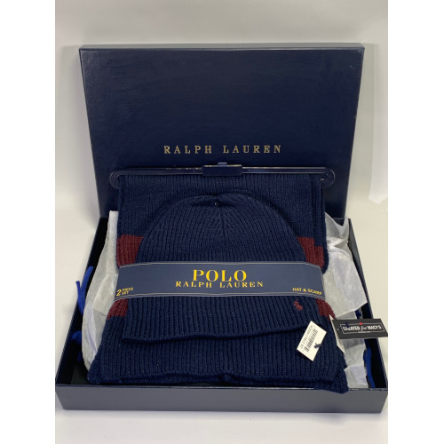 Polo Ralph Lauren Beanie Hat & Scarf Set