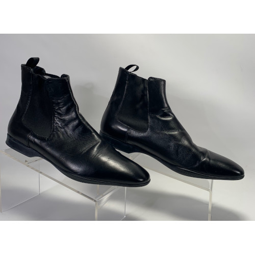 Prada Mens Leather Ankle Boots