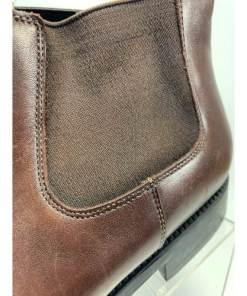 Santoni Men Smooth Calf Leather Ankle Boots