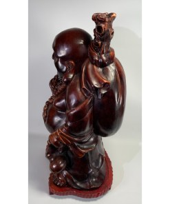 Buddha Hand Carved Wooden Sculpture