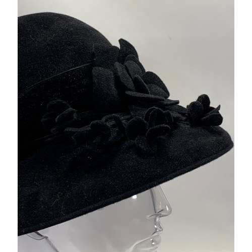 Carlos New York Women Floral Wool Cloche Felt Hat