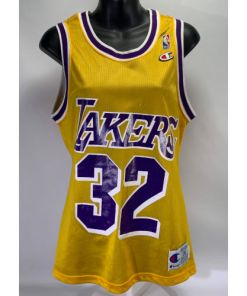 Champion Magic Johnson #32 Los Angelas Lakers Jersey