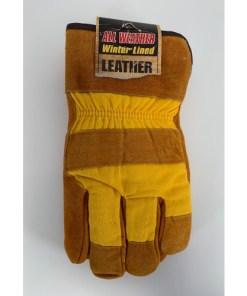 Cowhide Winter Fleece Lined Work Glove