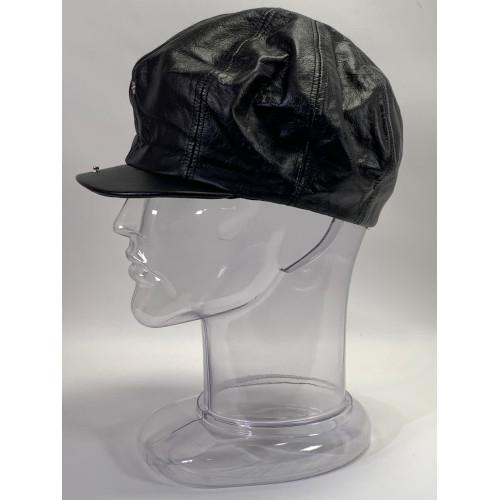 Newsboy BakerBoy Gatsby Leather Black Cap
