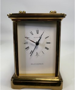 Bucherer Imhof German Quarts Brass Carriage Clock