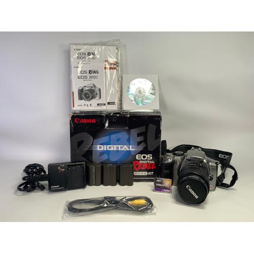 Canon EOS Digital Rebel EOS 300D Digital SLR Camera Bundle