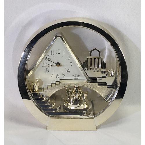 "Rhythm Quarts Art Deco ""Stairway To Heaven Mantel Clock 4RG575"