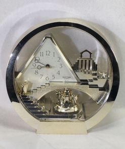 "Rhythm Quarts Art Deco ""Stairway To Heaven Mantel Clock 4RG575"
