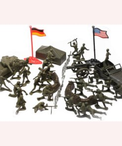 Rothco WWII Army Men, Toy Soldier Play Set with Vehicles 715278823151
