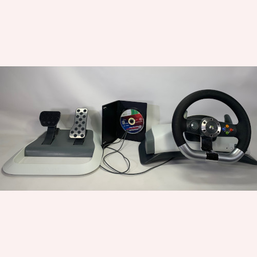 "Xbox 360 Wireless Racing Wheel & Need For Speed ""Hot Pursuit"""