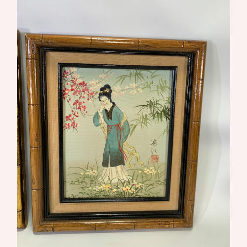 Asian Chinese Japanese Oil Painted Japan GEISHA Women Girl