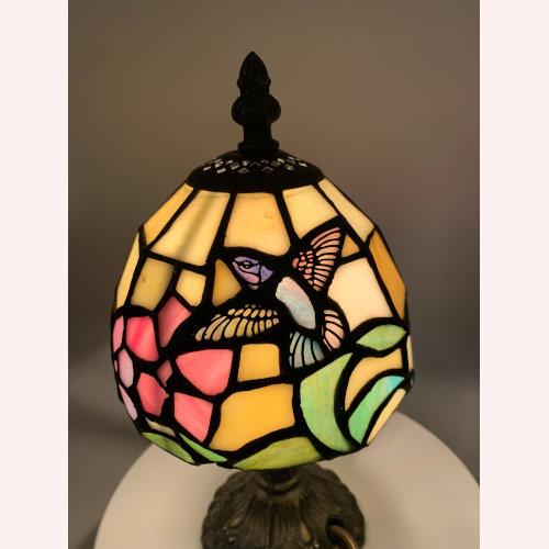 """10"""" Hummingbird Tiffany Style Table Lamp"""