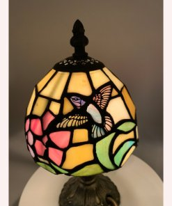"10"" Hummingbird Tiffany Style Table Lamp"
