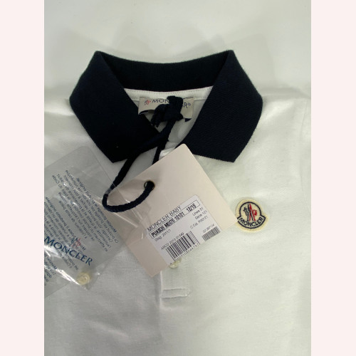 Moncler Baby Logo Patch Polo Shirt Size 12 -18.