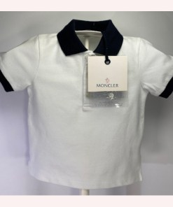 Moncler Baby Logo Patch Polo Shirt Size 12 -18.