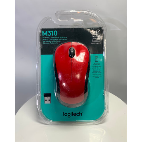 Logitech Wireless Mouse M310, Hands Red 097855076540
