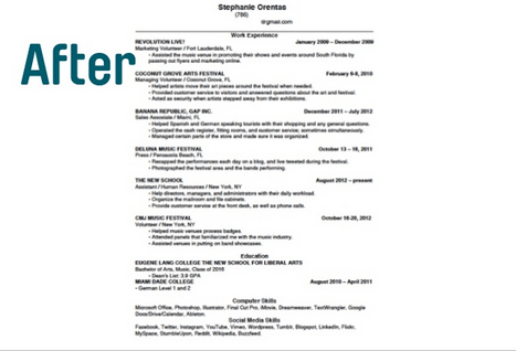 How To Write One Page Resume - Resume Sample