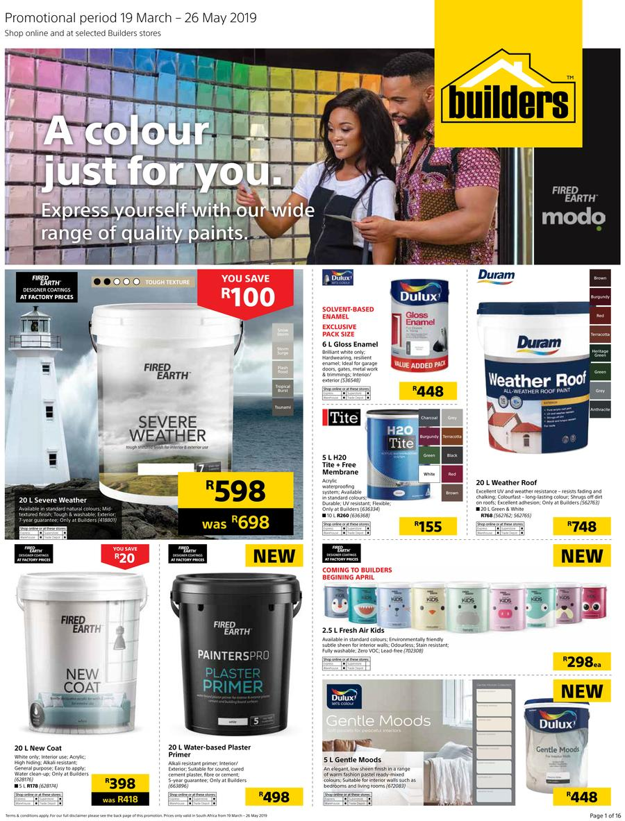 Builders Paint Deals 19 Mar 2019 26 May 2019 Find Specials
