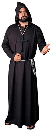 Men's Monk Ghoul Costume Robe