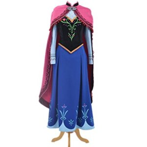 Anna Dress+cape Halloween Costumes