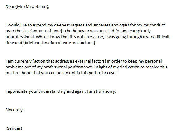 Apology letter to boss | lgbtlighthousehayward. Org.