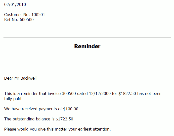 5 Payment Reminder Letters Find Word