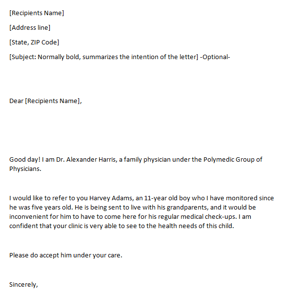 5 Referral Letters From Doctor Find Word Letters