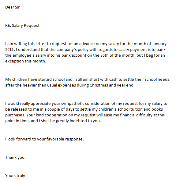 request letter for bank account opening for employee