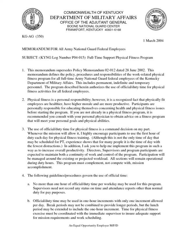 Army Memorandum Templates - Word Excel Fomats