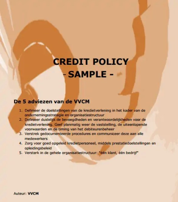 Credit Policy Template 6.