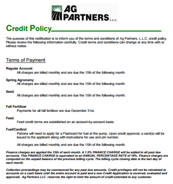 Credit Policy Template 7.