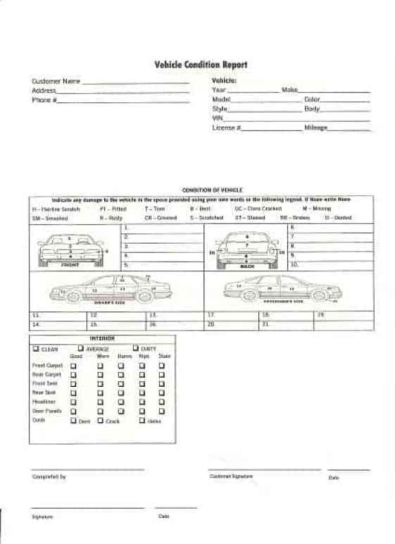 vehicle condition report templates find word templates. Black Bedroom Furniture Sets. Home Design Ideas