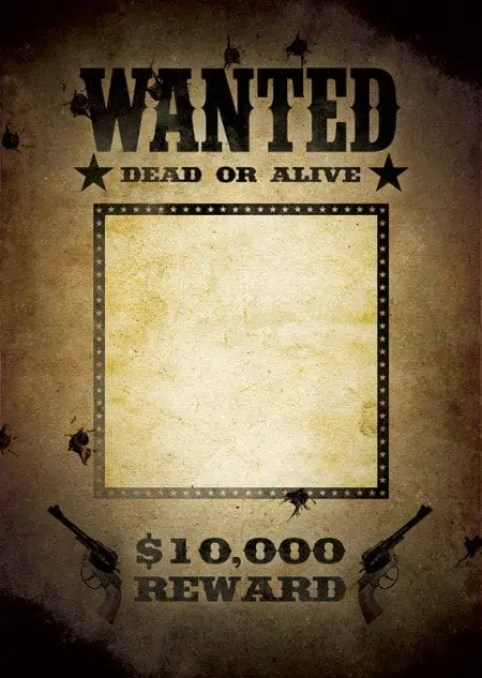 Wanted Poster Template 1.