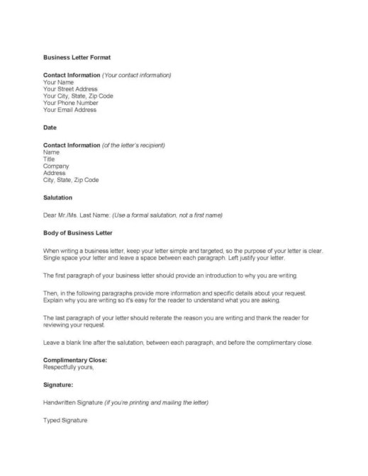 General Business Letter Template